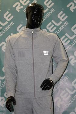 Спортивный костюм Rele Exclusive модель № 1. Цвет - серый. Футер (2-х нитка)