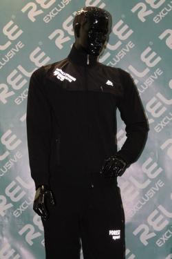 Спортивный костюм Rele Exclusive модель № 5. Цвет - черный. Футер (2-х нитка)